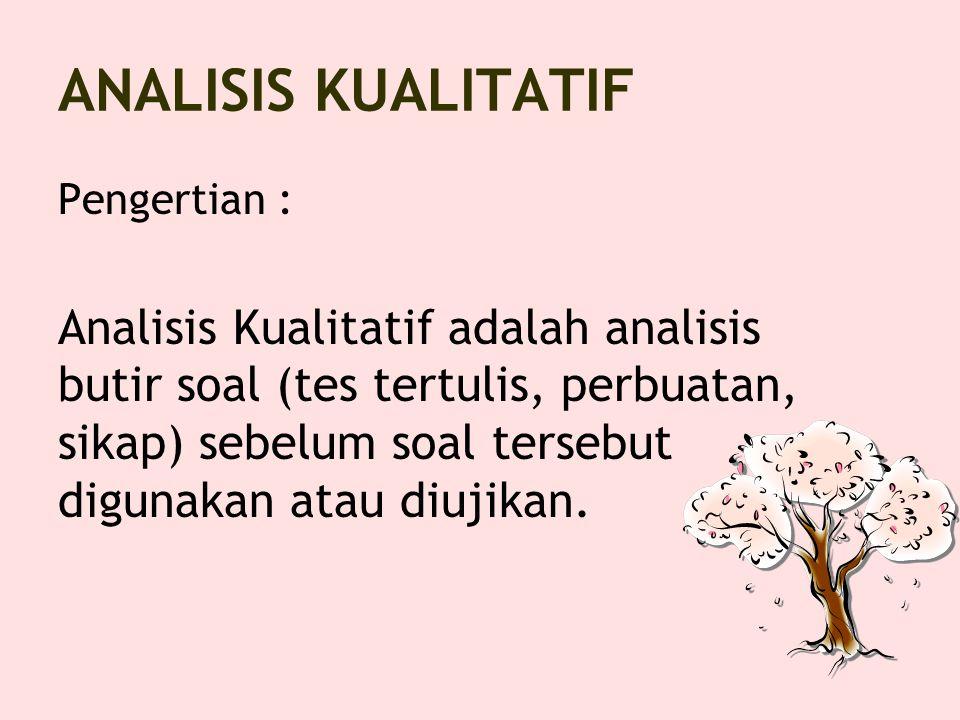 ANALISIS KUALITATIF