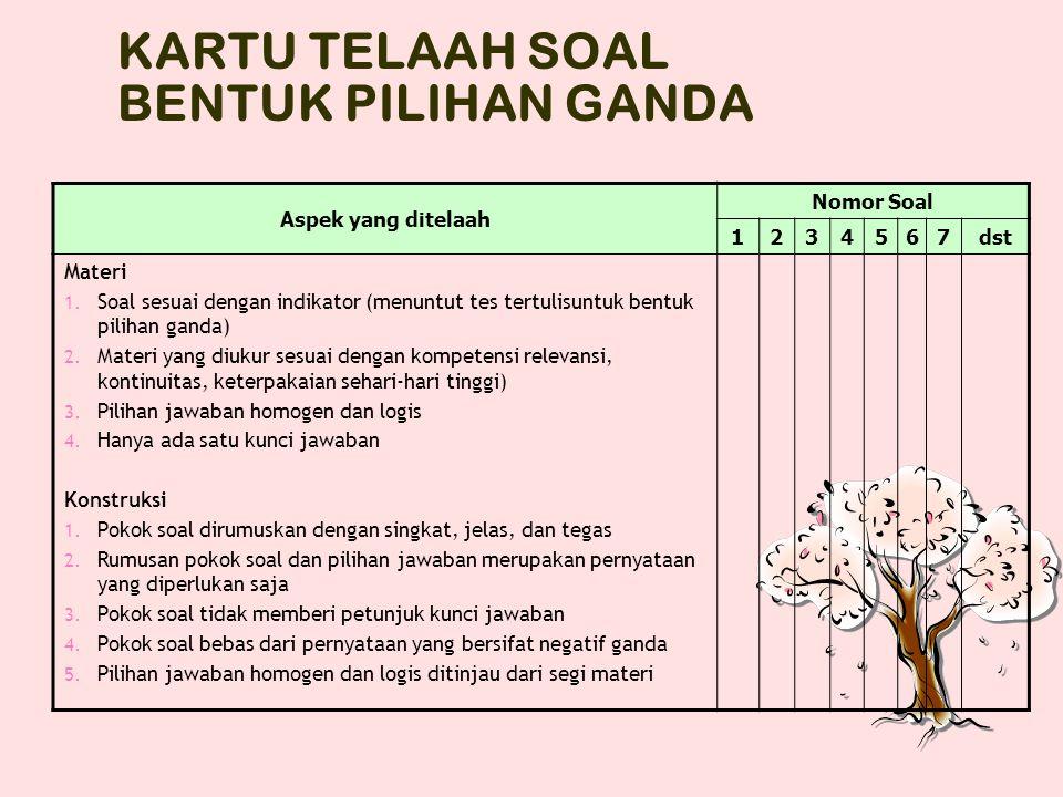 Aspek Analisis Kualitatif Materi Konstruksi Bahasa/Budaya Kunci Jawaban/pedoman penskoran