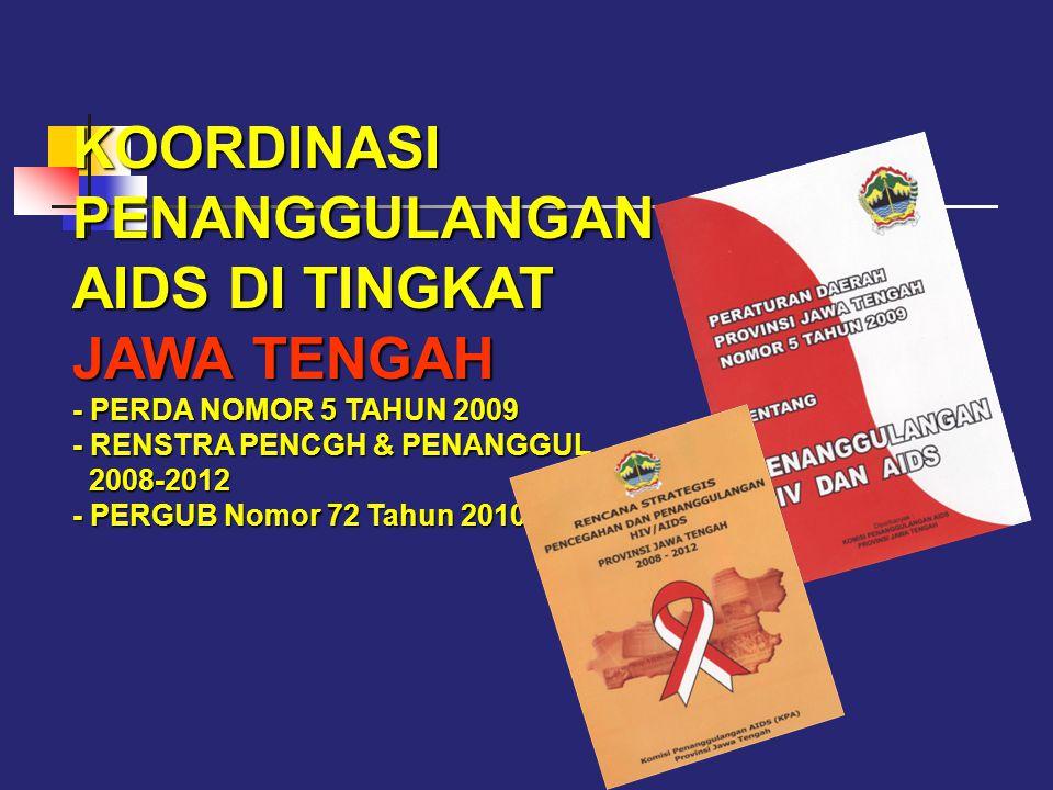 KOORDINASI PENANGGULANGAN AIDS DI TINGKAT JAWA TENGAH - PERDA NOMOR 5 TAHUN 2009 - RENSTRA PENCGH & PENANGGUL 2008-2012 - PERGUB Nomor 72 Tahun 2010
