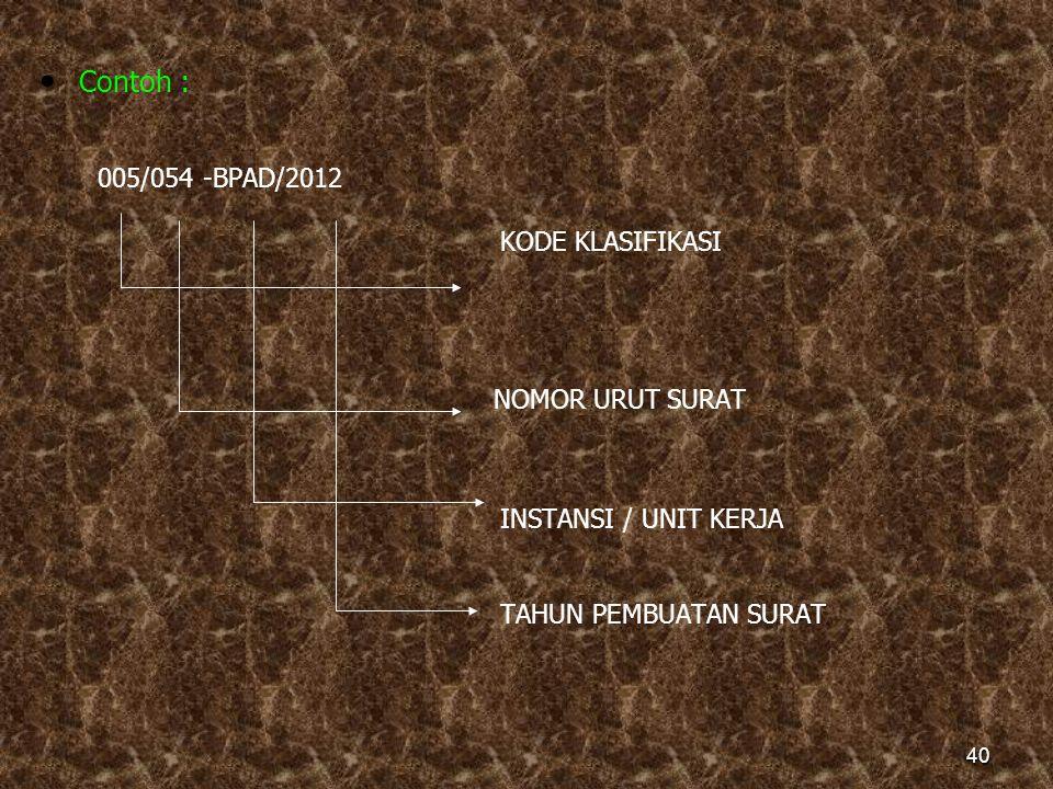 CONTOH : YM.01.11 POKOK MASALAH s UB MASALAH SUB-SUB MASALAH 39