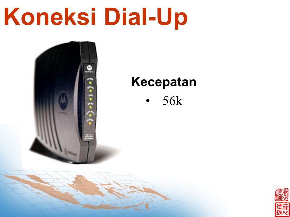 Koneksi Dial-Up Kecepatan 56k