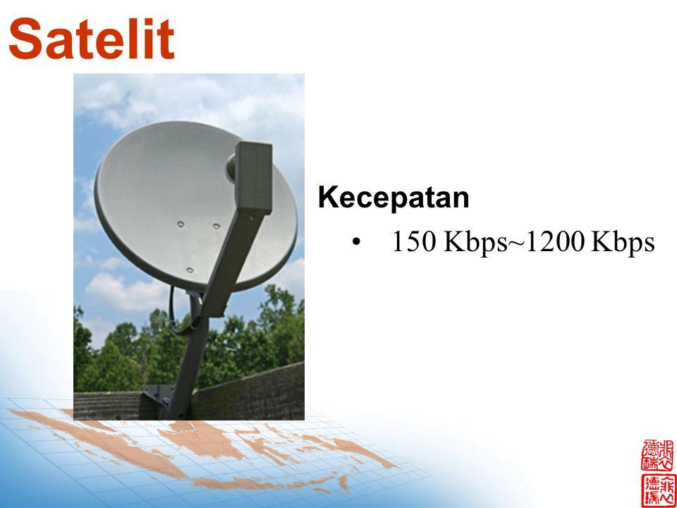 Satelit Kecepatan 150 Kbps~1200 Kbps