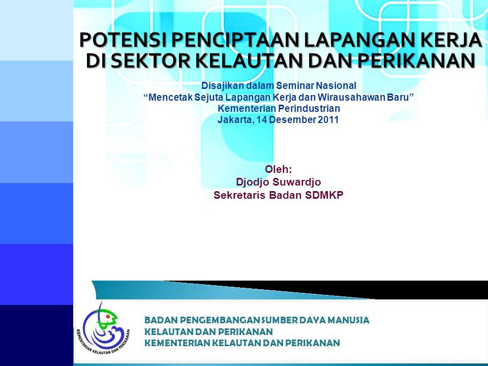 POTENSI SUMBER DAYA KELAUTAN & PERIKANAN  Indonesia sebagai negara kepulauan terbesar di dunia (luas laut ±5,4 juta km² dan garis pantai ±95.181 km)  Potensi wilayah pesisir dan lautan Indonesia (Perairan Nusantara seluas 2.8 juta km 2, Laut Teritorial seluas 0.3 juta km 2.