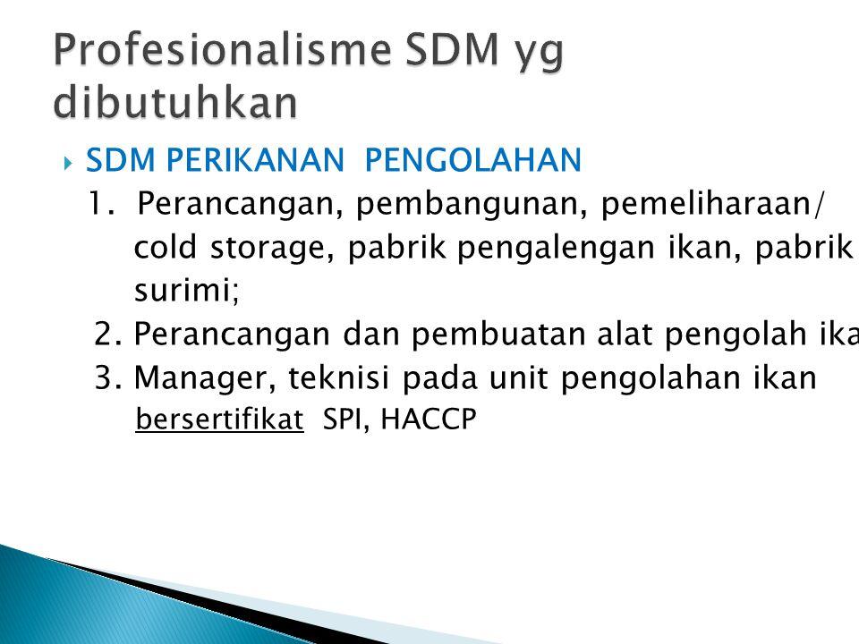 PROGRAM & KEGIATAN PENGEMBANGAN SDM KP 2011-2014 1.1.