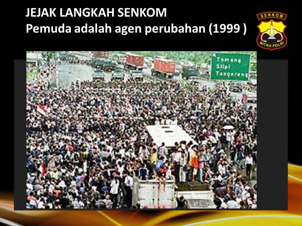 Sejarah Senkom Peristiwa-peristiwa awal Senkom berdiri 2003: -Seminar2 dan Diskusi terkait penguatan peran pemuda pasca disahkannya UU kepolisian.