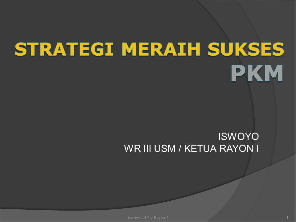 PKM Pengabdian Masyarakat (PKMM)  PKM Pengabdian kepada Masyarakat (PKMM) merupakan kreativitas yang inovatif dalam membantu memecahkan persoalan di masyarakat  Bentuk kegiatan dapat berupa penataan dan perbaikan lingkungan, pelatihan keterampilan kelompok masyarakat, pengembangan kelembagaan masyarakat, penciptaan karya seni dan olah raga, dll.