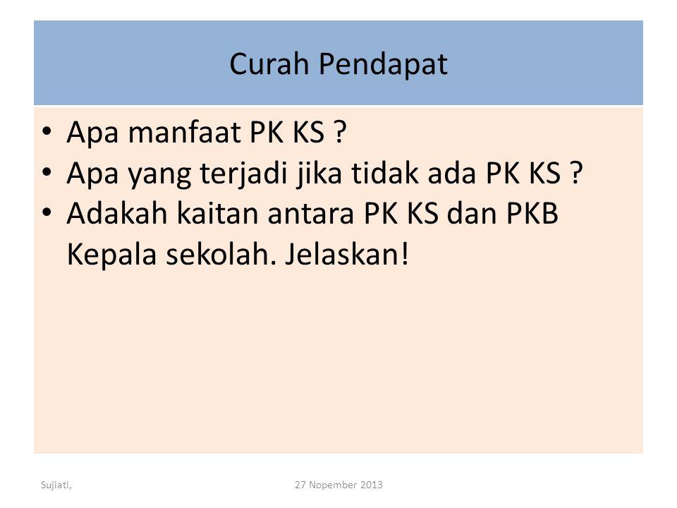 Curah Pendapat Apa manfaat PK KS .Apa yang terjadi jika tidak ada PK KS .