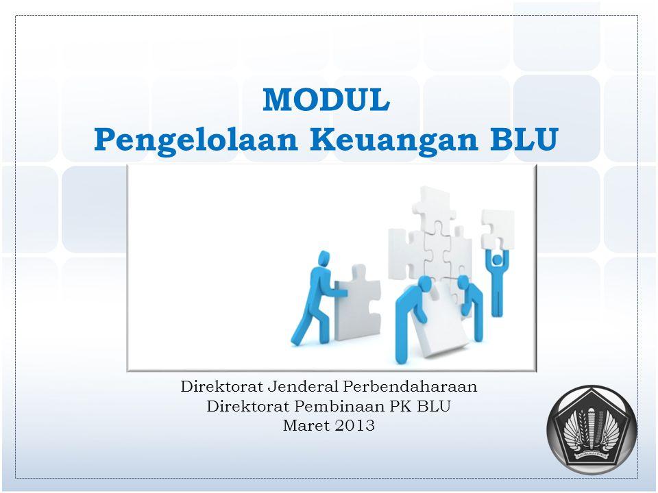 MODUL Pengelolaan Keuangan BLU Direktorat Jenderal Perbendaharaan Direktorat Pembinaan PK BLU Maret 2013