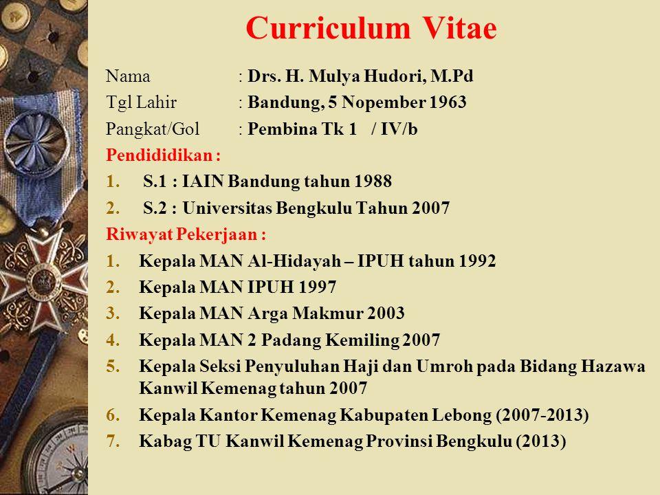 Curriculum Vitae Nama: Drs.H.