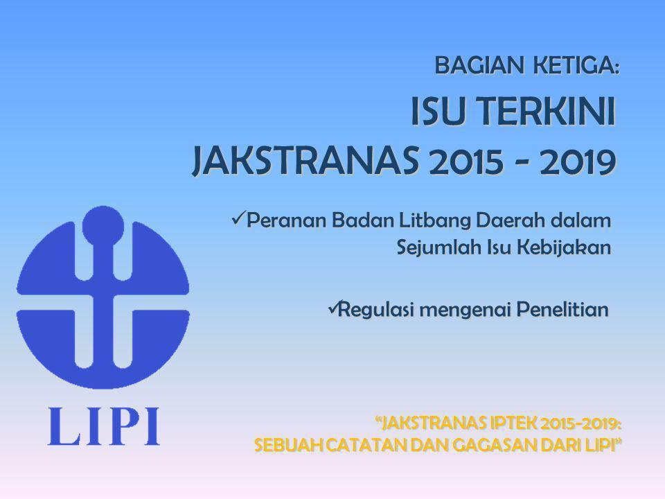 """Seminar Ilmiah Dies Natalis Ke-60 Universitas Sumatera Utara """"JAKSTRANAS IPTEK 2015-2019: SEBUAH CATATAN DAN GAGASAN DARI LIPI"""" BAGIAN KETIGA: ISU TER"""