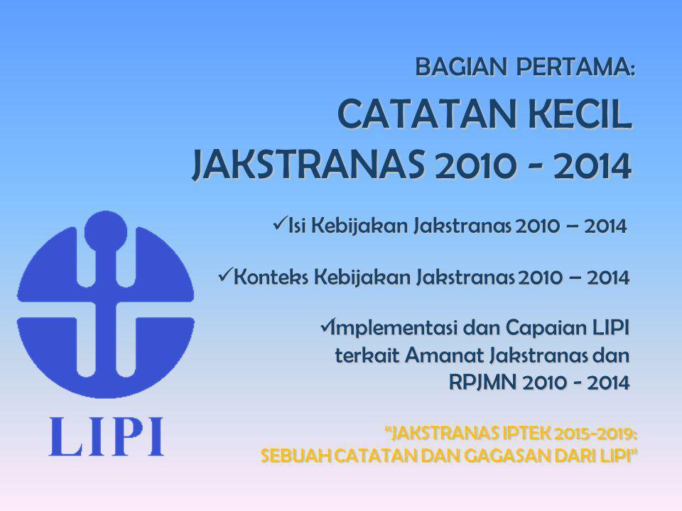 """Seminar Ilmiah Dies Natalis Ke-60 Universitas Sumatera Utara """"JAKSTRANAS IPTEK 2015-2019: SEBUAH CATATAN DAN GAGASAN DARI LIPI"""" BAGIAN PERTAMA: CATATA"""