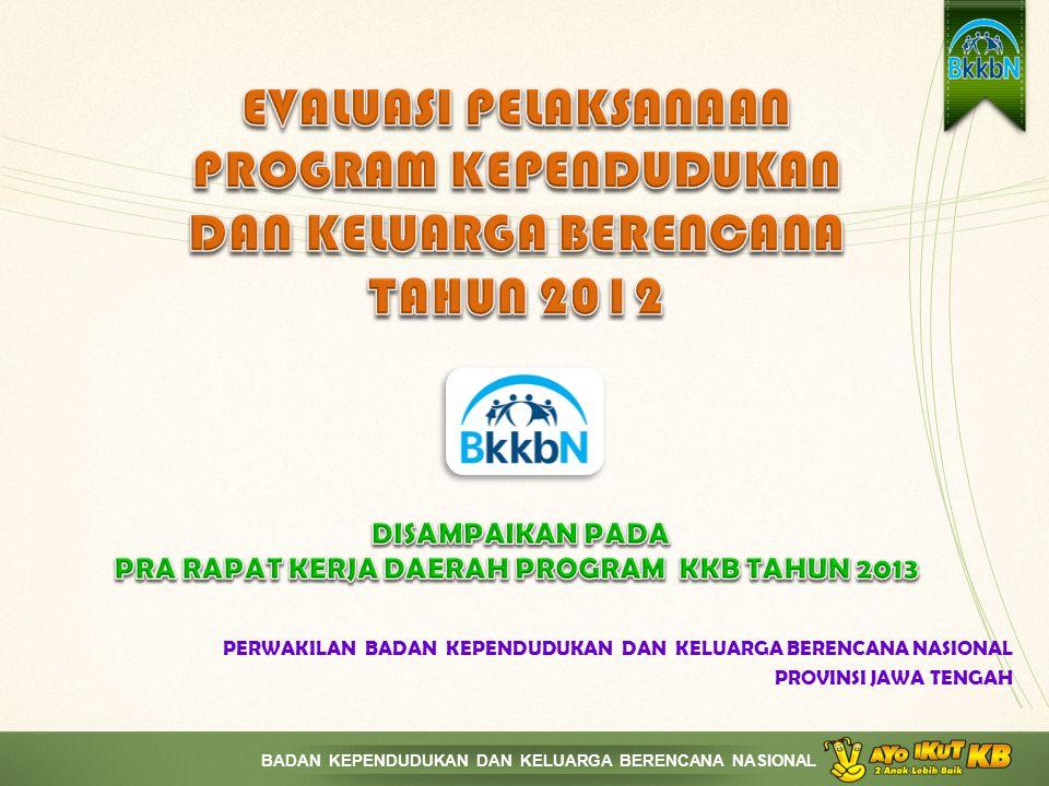 BADAN KEPENDUDUKAN DAN KELUARGA BERENCANA NASIONAL TREND PENCAPAIAN SUNTIK 2010 - 2012