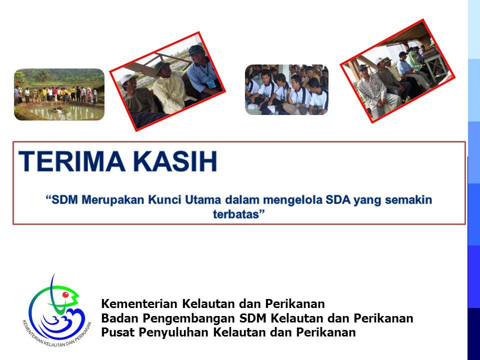 Kementerian Kelautan dan Perikanan Badan Pengembangan SDM Kelautan dan Perikanan Pusat Penyuluhan Kelautan dan Perikanan