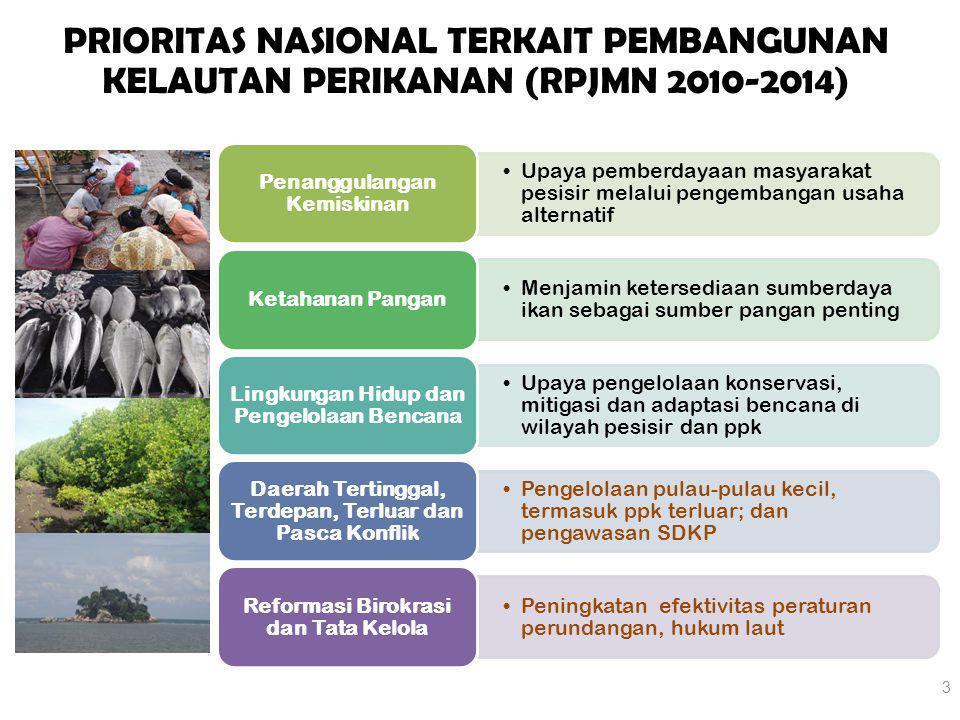 3 Upaya pemberdayaan masyarakat pesisir melalui pengembangan usaha alternatif Penanggulangan Kemiskinan Menjamin ketersediaan sumberdaya ikan sebagai