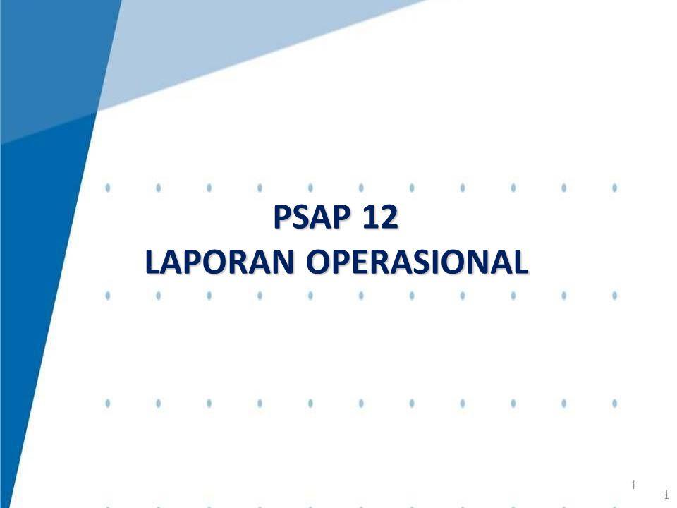 Laporan Operasional menyediakan informasi mengenai seluruh kegiatan operasional keuangan entitas pelaporan yang tercerminkan dalam pendapatan-LO, beban, dan surplus/defisit operasional dari suatu entitas pelaporan yang penyajiannya disandingkan dengan periode sebelumnya.