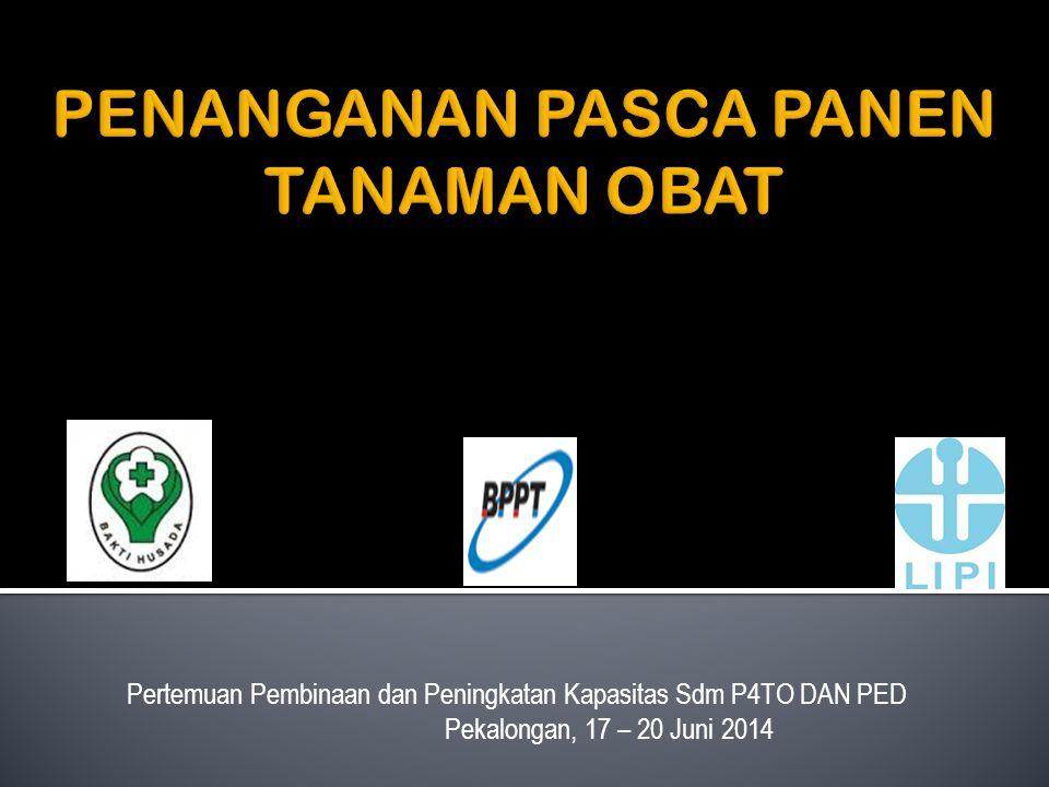 Pertemuan Pembinaan dan Peningkatan Kapasitas Sdm P4TO DAN PED Pekalongan, 17 – 20 Juni 2014
