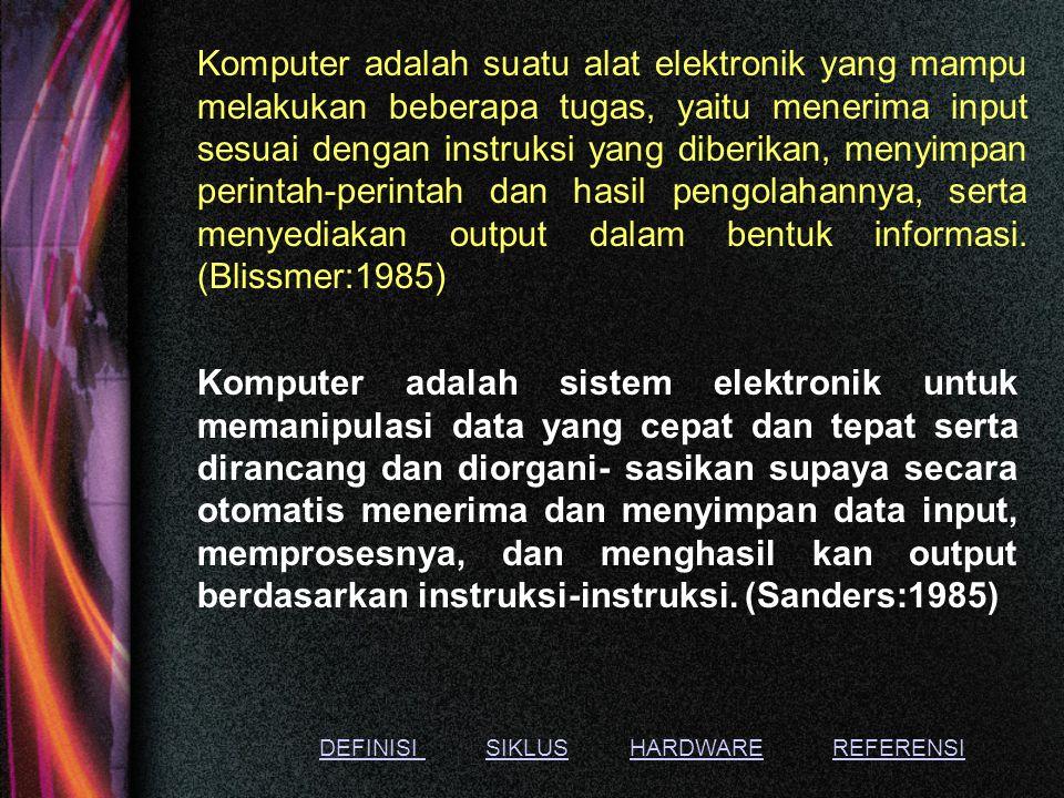 Acuan untuk menambah pengetahuan DefinisiSiklusHardwareReferensi