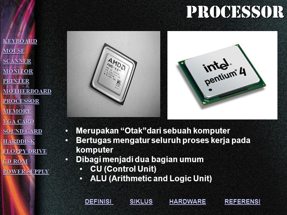 DEFINISI DEFINISI SIKLUS HARDWARE REFERENSISIKLUSHARDWAREREFERENSI Merupakan tempat bersatunya seluruh komponen pada komputer.