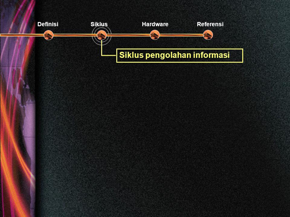 Siklus pengolahan informasi DefinisiSiklusHardwareReferensi