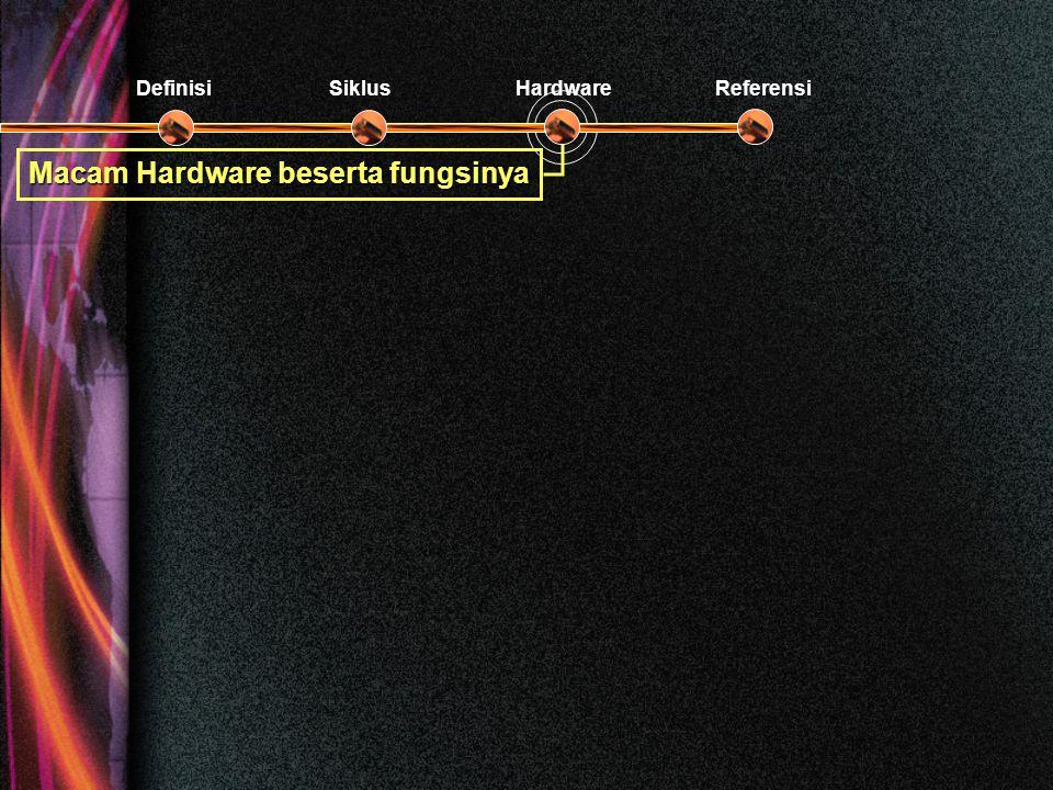 Macam Hardware beserta fungsinya DefinisiSiklusHardwareReferensi