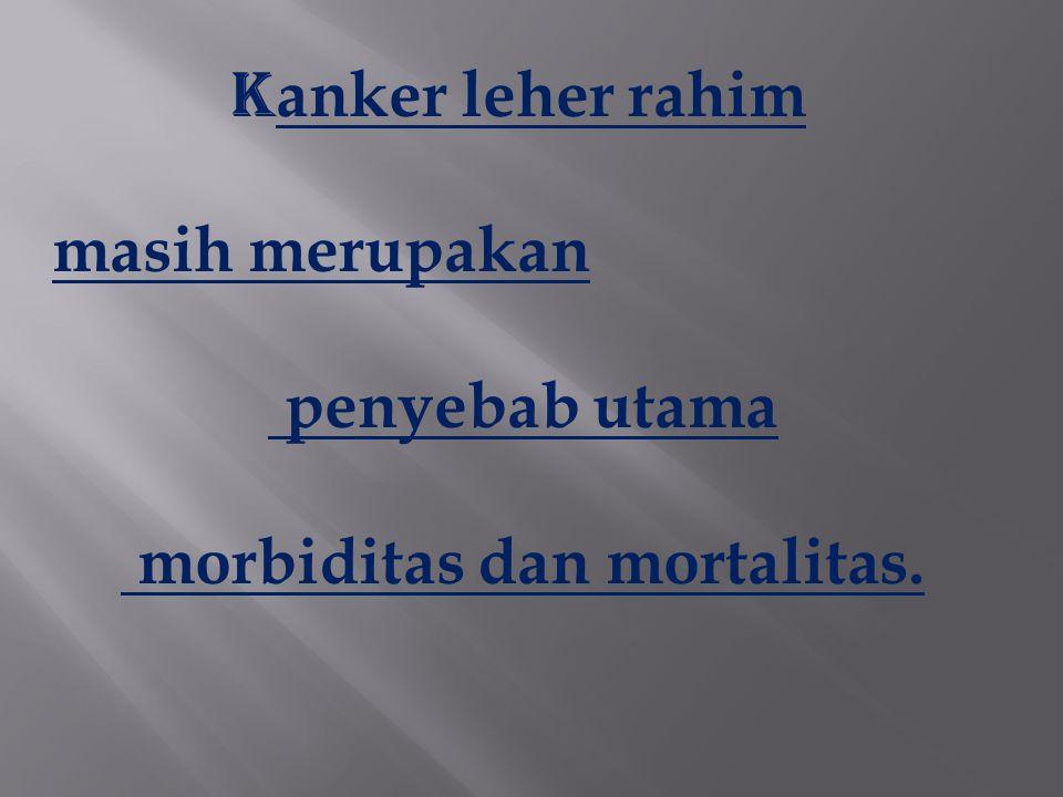 K anker leher rahim masih merupakan penyebab utama morbiditas dan mortalitas.