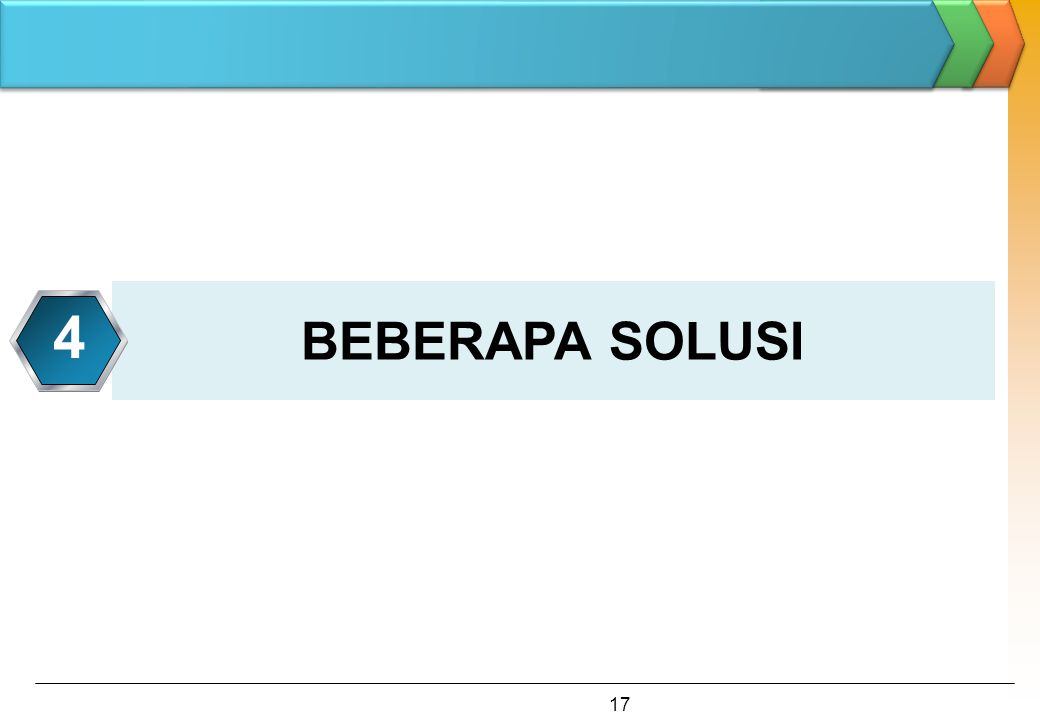 BEBERAPA SOLUSI 4 17