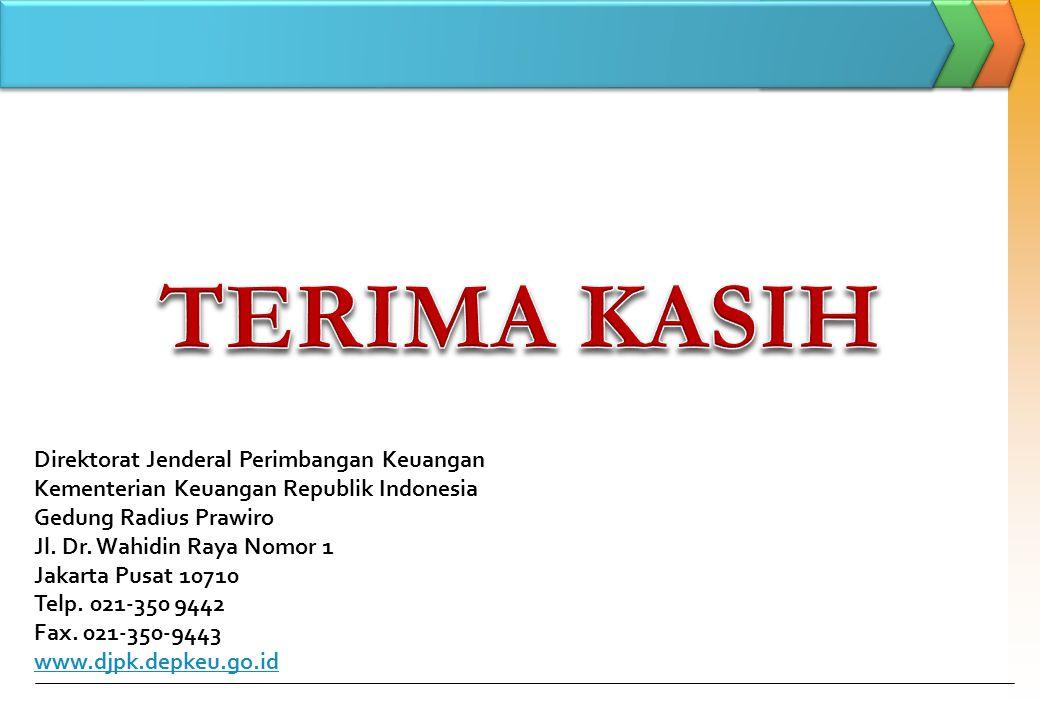Direktorat Jenderal Perimbangan Keuangan Kementerian Keuangan Republik Indonesia Gedung Radius Prawiro Jl. Dr. Wahidin Raya Nomor 1 Jakarta Pusat 1071