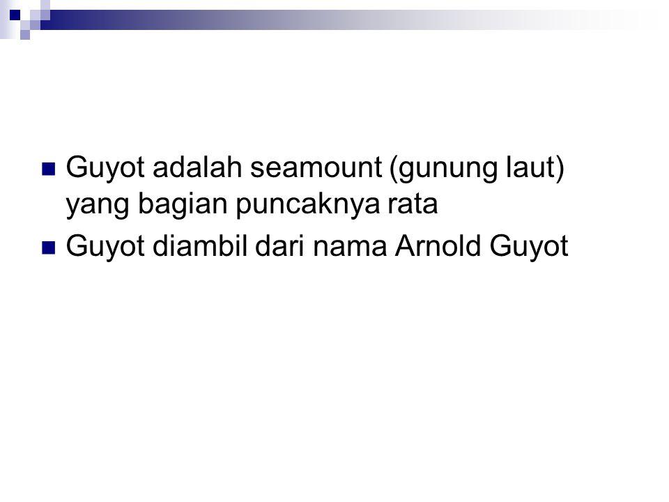 Guyot adalah seamount (gunung laut) yang bagian puncaknya rata Guyot diambil dari nama Arnold Guyot