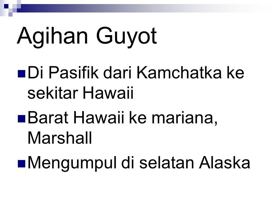 Agihan Guyot Di Pasifik dari Kamchatka ke sekitar Hawaii Barat Hawaii ke mariana, Marshall Mengumpul di selatan Alaska