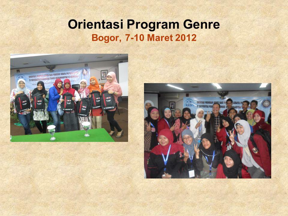 Orientasi Program Genre Bogor, 7-10 Maret 2012