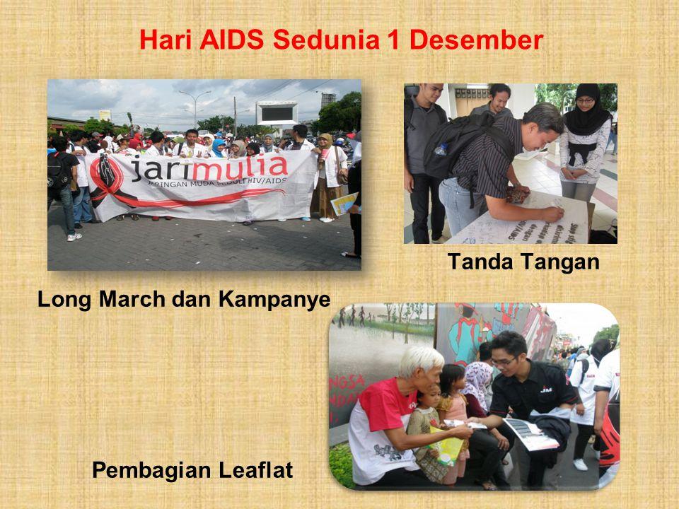 Hari AIDS Sedunia 1 Desember Tanda Tangan Pembagian Leaflat Long March dan Kampanye
