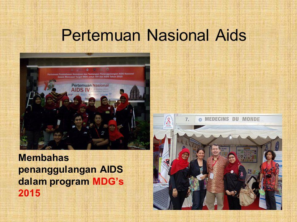 Pertemuan Nasional Aids Membahas penanggulangan AIDS dalam program MDG's 2015