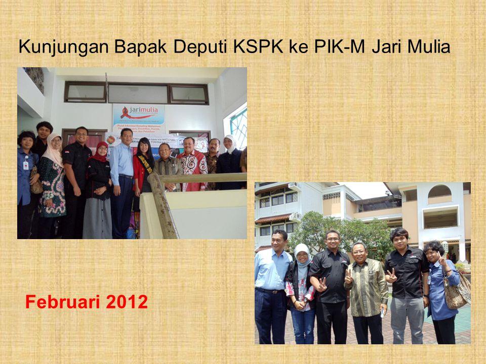 Kunjungan Bapak Deputi KSPK ke PIK-M Jari Mulia Februari 2012