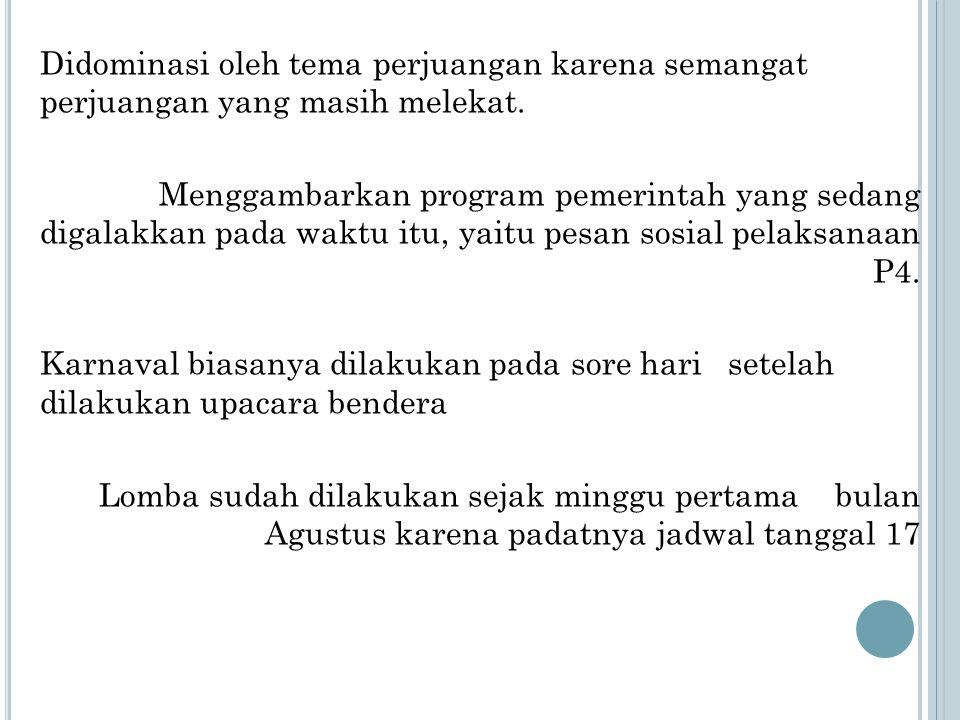 M AKNA P ERMAINAN PADA 17 A GUSTUS Balap Karung: Meskipun harus memakai karung goni sebagai bahan sandang, namun tetap semangat berjuang melawan penjajah.