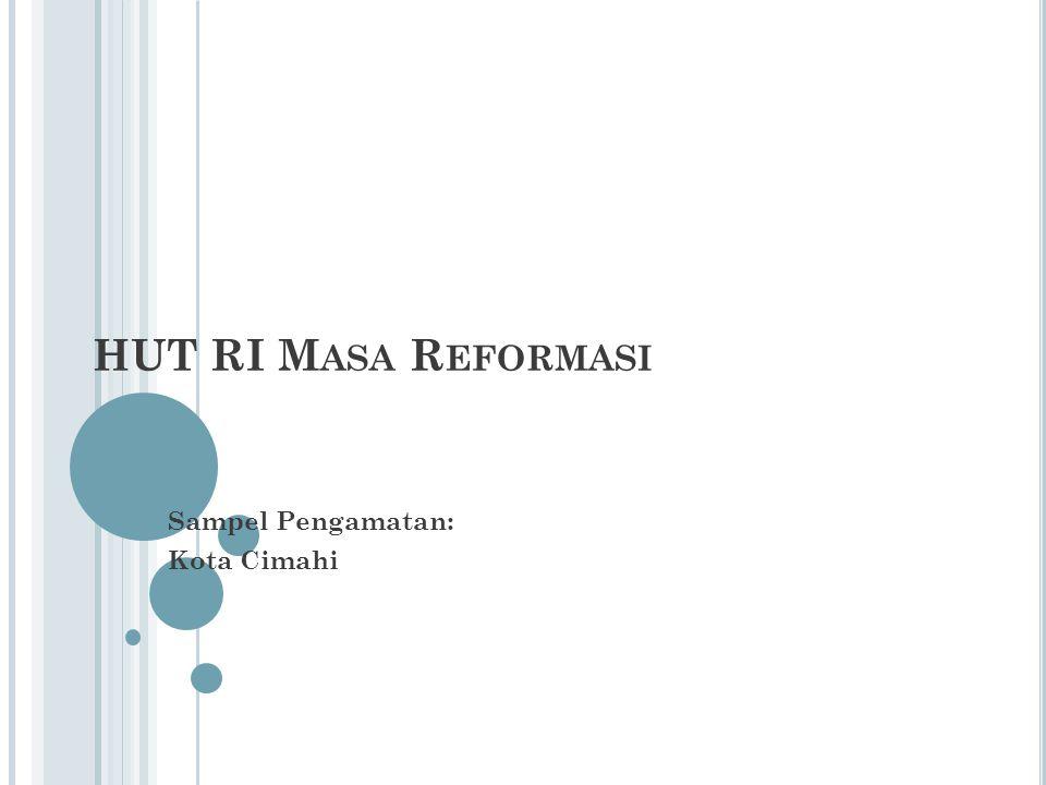 HUT RI M ASA R EFORMASI Sampel Pengamatan: Kota Cimahi