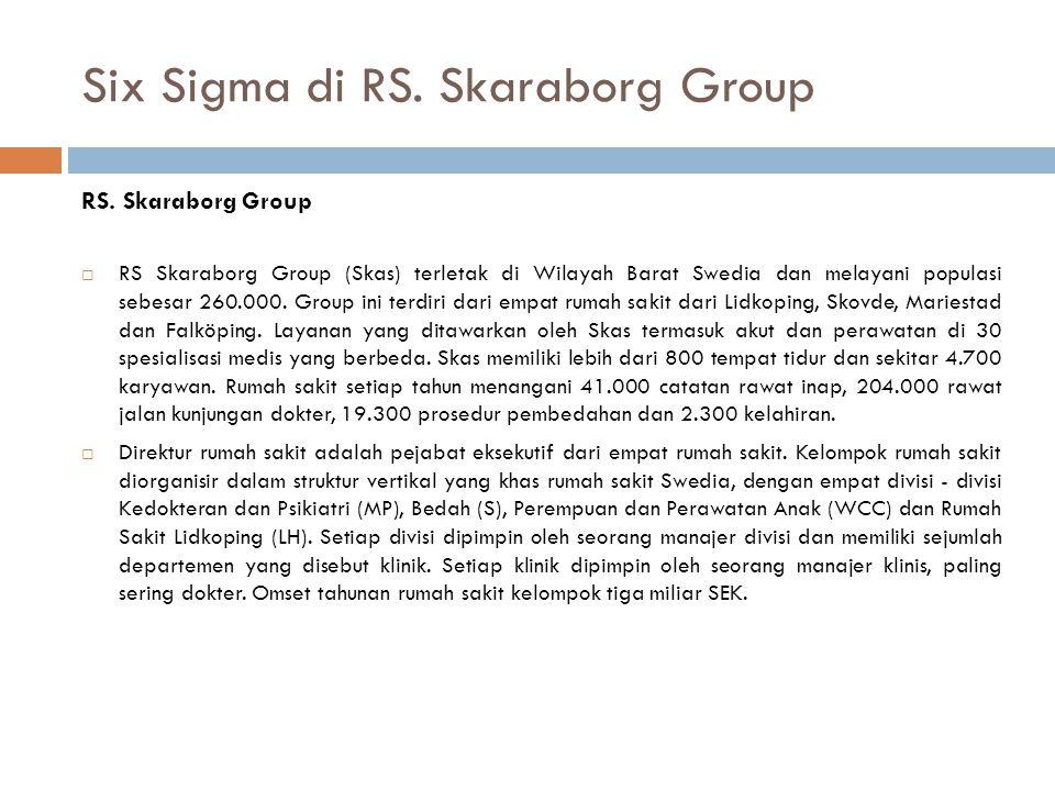 Six Sigma di RS. Skaraborg Group RS. Skaraborg Group  RS Skaraborg Group (Skas) terletak di Wilayah Barat Swedia dan melayani populasi sebesar 260.00