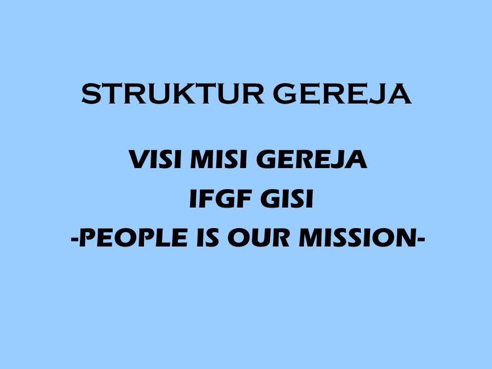 STRUKTUR GEREJA VISI MISI GEREJA IFGF GISI -PEOPLE IS OUR MISSION-
