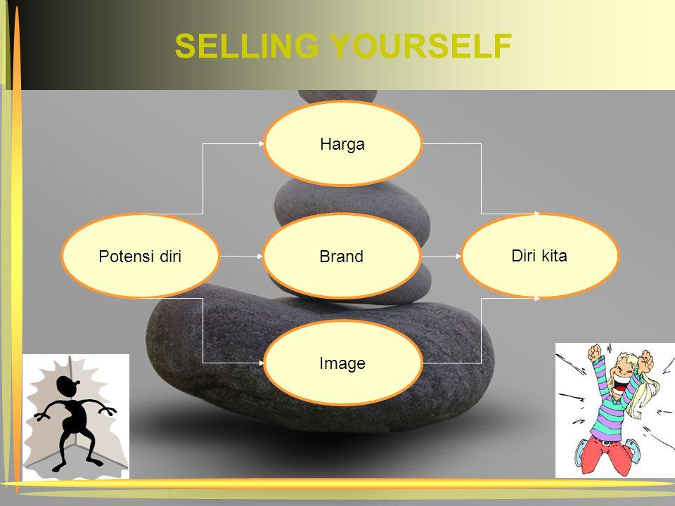 SELLING YOURSELF Brand Potensi diri Harga Image Diri kita
