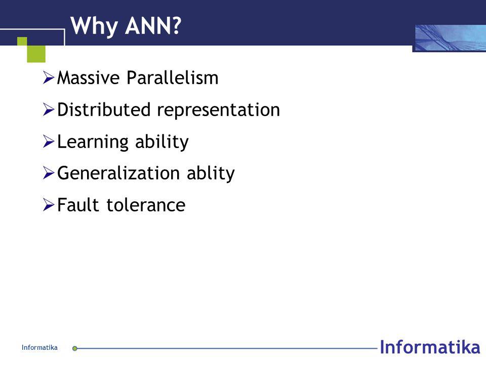 Informatika Why ANN.