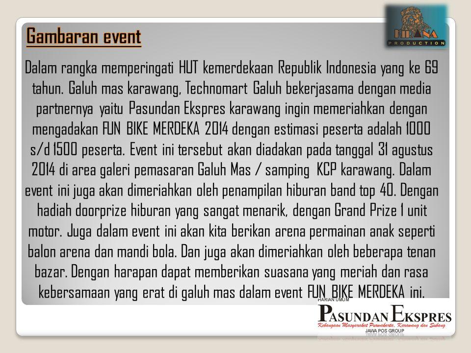 Dalam rangka memperingati HUT kemerdekaan Republik Indonesia yang ke 69 tahun. Galuh mas karawang, Technomart Galuh bekerjasama dengan media partnerny