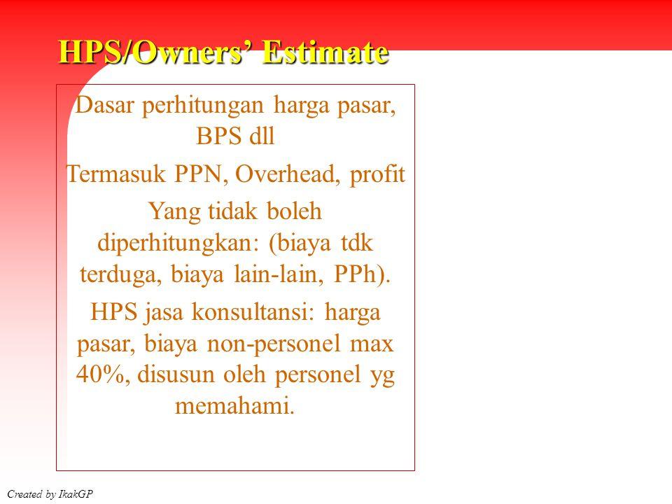 Siklus Pengadaan Created by IkakGP 2003 Menyusun Dokumen Pengadaan