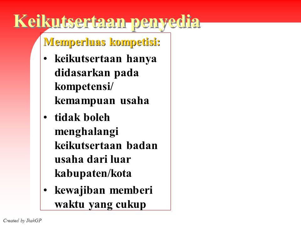 Siklus Pengadaan Created by IkakGP 2003 Menyusun Kontrak