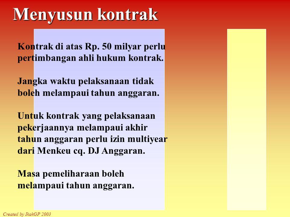 Siklus Pengadaan Created by IkakGP 2003 Melaksanakan Kontrak