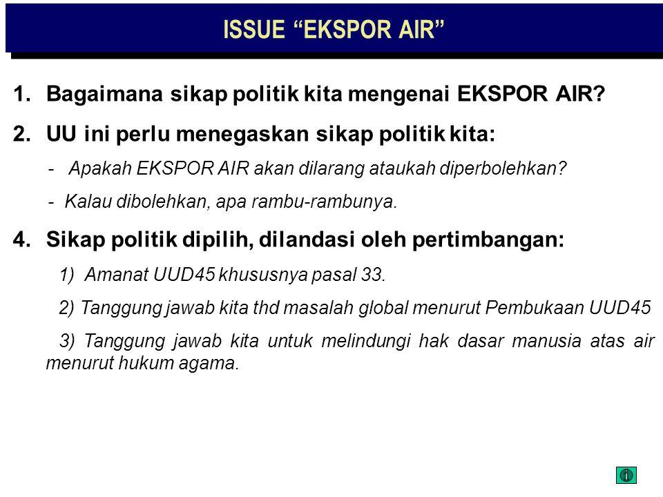 EKSPOR AIR ?