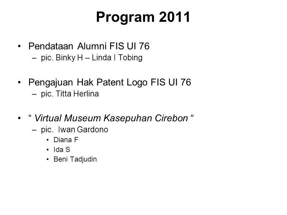 Program 2011 Pendataan Alumni FIS UI 76 –pic.