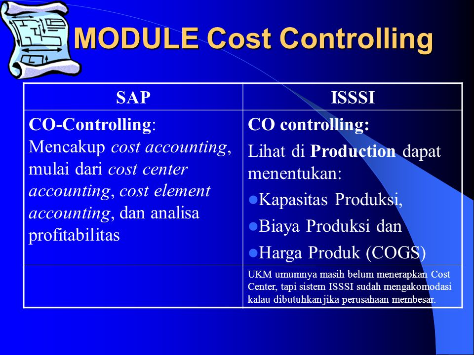 MODULE FINANCE SAPISSSI FI-Financial Accounting: Mencakup standard accounting cash management (treasury), general ledger dan konsolidasi untuk tujuan financial reporting.