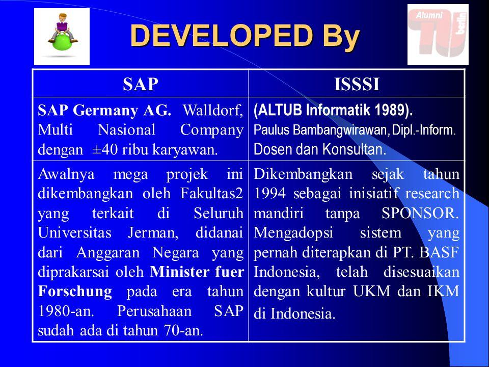 Scale Company & Customers SAPISSSI Skala Perusahaan: Besar dan Multi Nasional.
