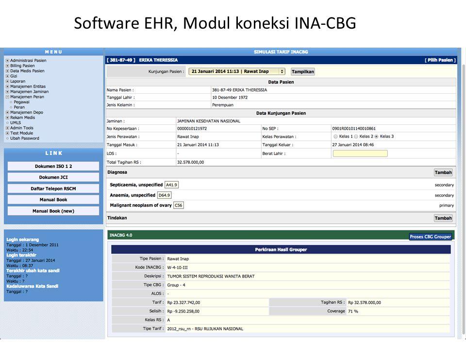 Software EHR, Modul koneksi INA-CBG