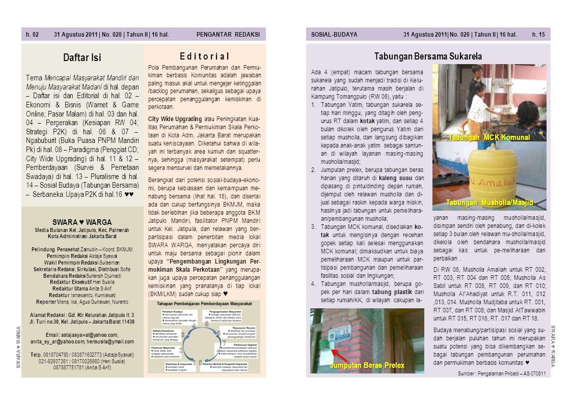 h.14 31 Agustus 2011 | No.020 | Tahun II | 16 hal.