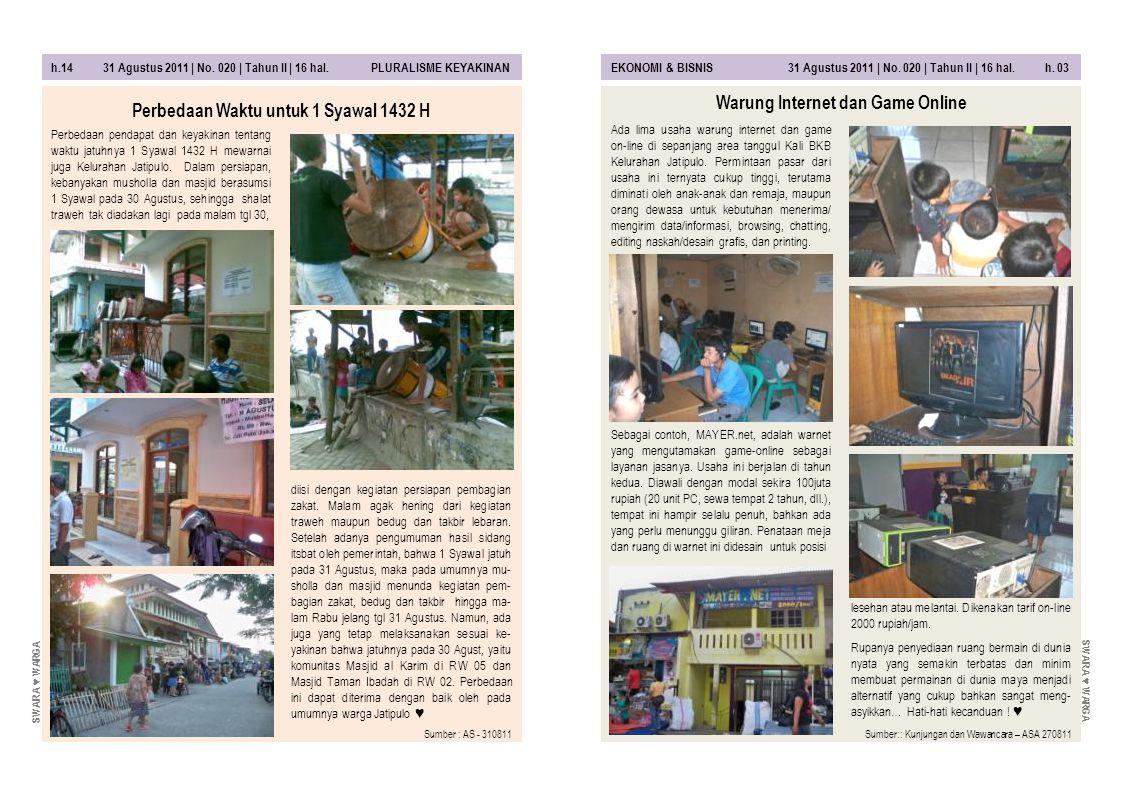 h.04 31 Agustus 2011 | No.020 | Tahun II | 16 hal.